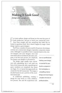 The design sample shows you how the interior of your book will look after layout.