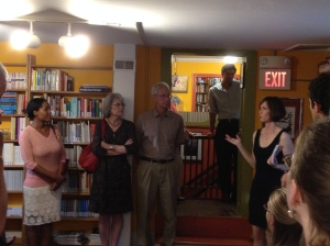 Speaking at Kensington Row Bookshop Sept 5, 2014