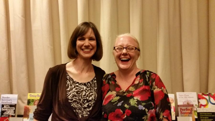 Katherine Pickett and Kathy Clayton at the IBPA awards ceremony
